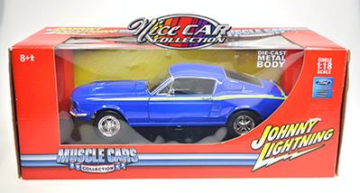 #1089 1967 Ford Mustang, MUSCLE CARS COLLECTION  /Bleu