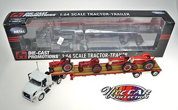 Tracteur-remorque international avec 4 tracteurs inclus
