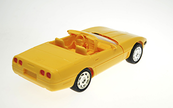1995 Corvette Convertible Jaune plastique #923