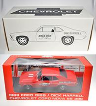 1968 Chevrolet COPO NOVA SS 396 Rouge #1000