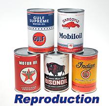 #845 Reproduction de canne d'huile, lot de 5