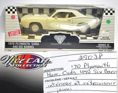PLYMOUTH CUDA 440 SIX BARREL 1970, DIAMOND COLLECTIBLES SERIES #3, LIMITÉ DE 2500