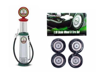 Ensemble pompe à essence et pneus 1:18  (#530)