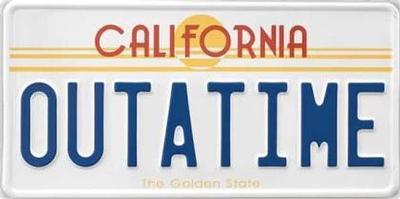 #849-4 Plaque d'auto California - Outatime