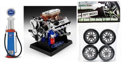 Ensemble PNEUS Shelby, moteurs Ford 427 et pompe à essence FORD 1:18  (#287)