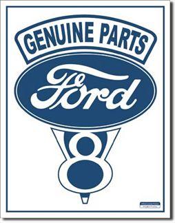 Genuine Parts Ford V-8  ,ENSEIGNES métal
