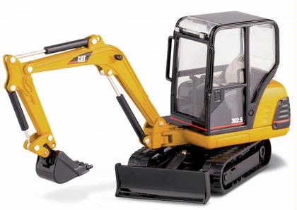 CAT 302.5 Mini Hydraulic Excavator with work tools