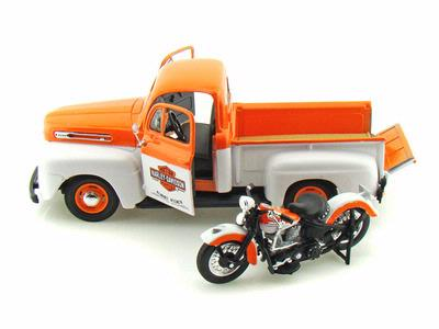 Ford Pickup F-1 1948 with Harley-Davidson FL Panhead