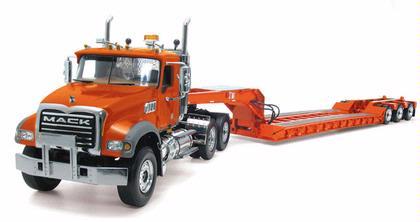 Mack Granite Truck with Tri-Axle Lowboy