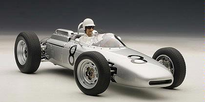 Porsche 804 F1 1962 #8 Jo Bonnier Nurburgring (With Figure)