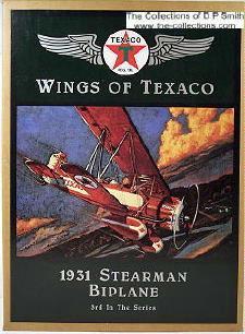 plane Texaco - Wings Of Texaco #3 (1995) - 1931 Stearman 4d Biplane