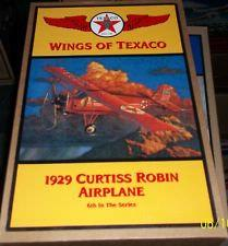 plane Texaco - Wings Of Texaco #6 (1998) - 1929 Curtis Robin Airplane (bank)