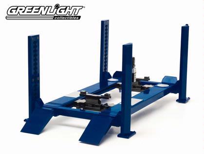 Blue Four-Post Lift