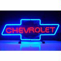 GM Chevrolet Bowtie Neon Sign (Chevy)