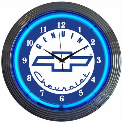 GM Genuine Chevrolet Neon Clock