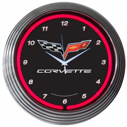 GM Corvette C6 Neon Clock (Chevy)