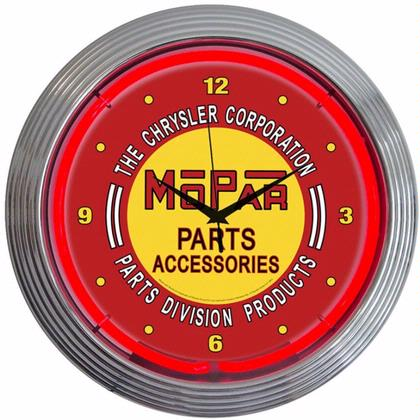 Mopar Red Vintage Neon Clock