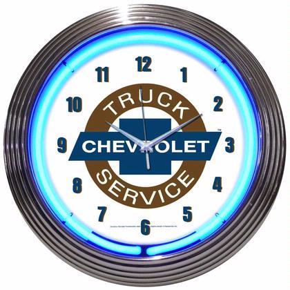 GM Chevy Truck Service Neon Clock