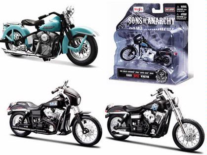 Set of 3 Motorcycles Sons of Anarchy Harley-Davidson (Series 2)