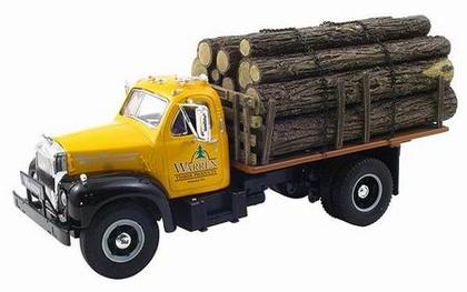 Warren Timber Products Mack B-Model Stake Truck w Log Load