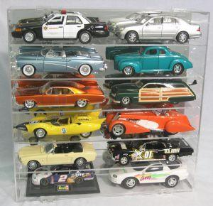 Display case for 12 1/18 WITHOUT Vertical Separator