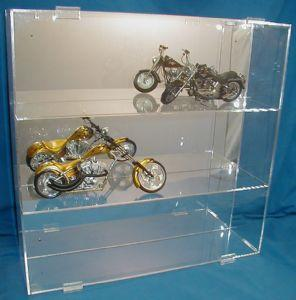 Display Case for 6 or 9 Motorcycles WITHOUT Verticals Separators