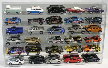 Display Case For 30 cars 1/64 WITH Verticals Separator