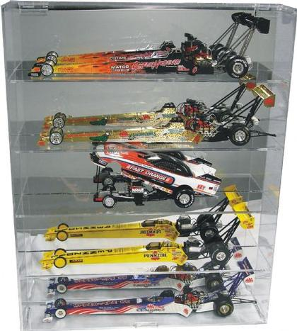 Display case for 5 dragsters 1/24