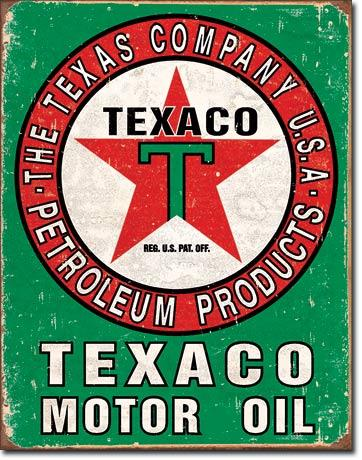 Texaco Motor Oil Weathered