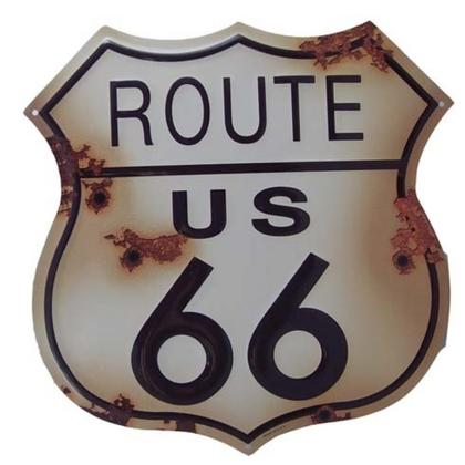 Route 66 DIE CUT RUSTIC