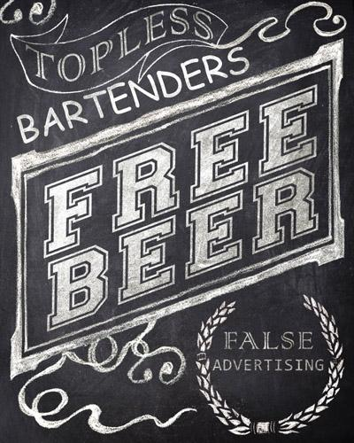 Topless Bartenders Free Beer False Advertising