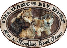The Gang's All Here (Embossed Oval Tin Sign)