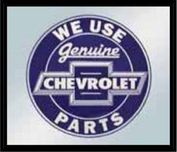 We Use Genuine Chevrolet Parts