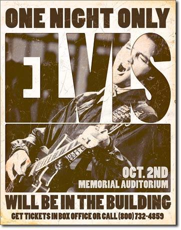 Elvis - One Night Only - Memorial Auditorium Oct. 2nd
