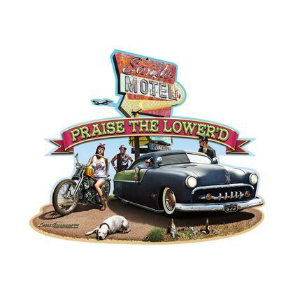 Praise the Lower'd Die Cut - The Fresno Sands Motel