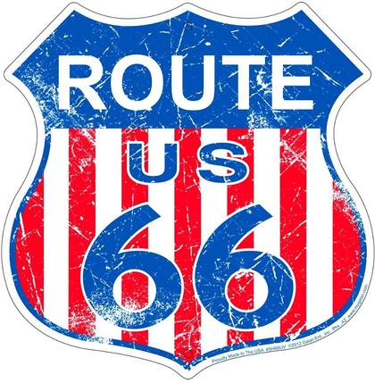 Route US 66 Die Cut Embossed