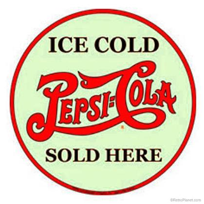 Ice Cold Pepsi-Cola Sold Here