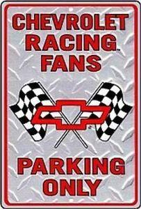 Chevrolet Racing Fans Parking Only