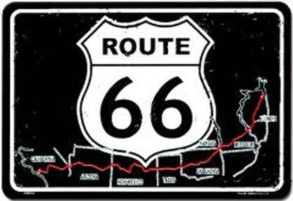 Route 66 - Map (Embossed)