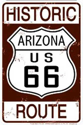 Historic Arizona Route 66 (Embossed)