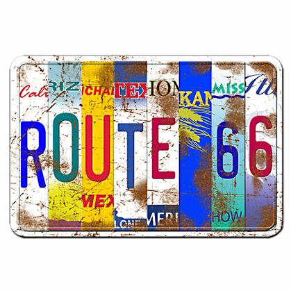 Route 66 - 8 states license plate (Embossed)
