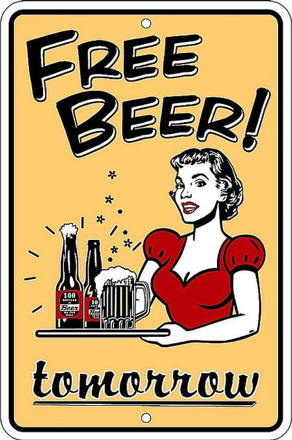 Free Beer Tomorow (Embossed)