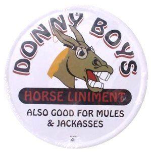 Donny Boys - Horse Liniment (Round Tin Sign)