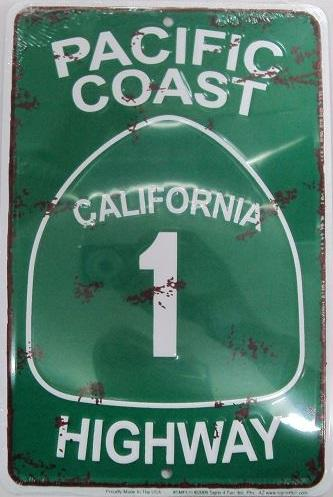 Pacific Coast - California 1 Highway (Embossed)