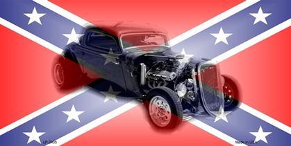 Confederate Flag   Hot Rod