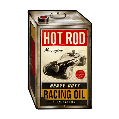 Hot Rod Magazine - Racing Oil **Shield Metal Sign**