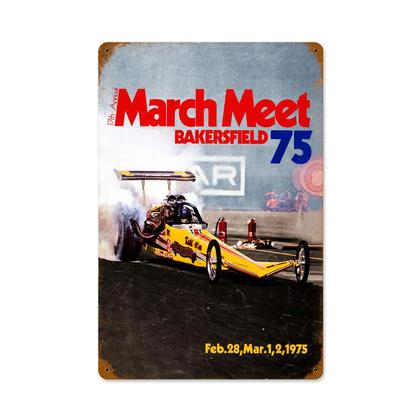 March Meet Bakersfield 75  **Shield Metal Sign**