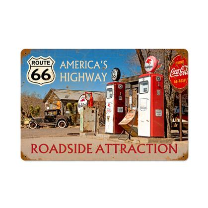 Route 66 America's Highway  **Shield Metal Sign**