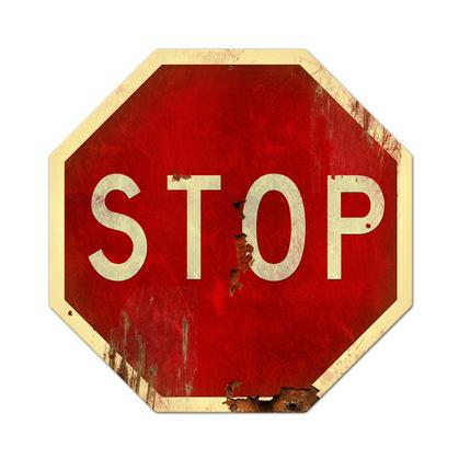 Stop Sign  **Shield Metal Sign**