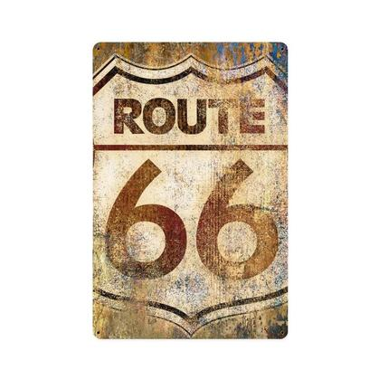 Route 66 Grunge  **Shield Metal Sign**